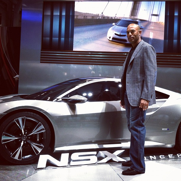 Mariano Rivera with the Acura NSX at NYIAS