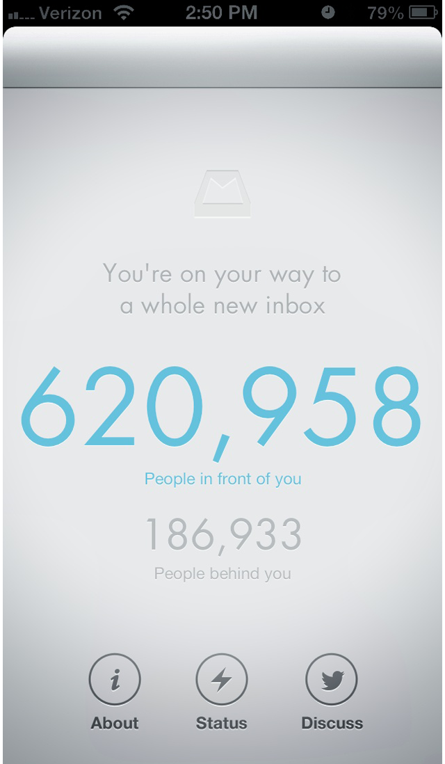 Waiting in Line for the Mailbox App