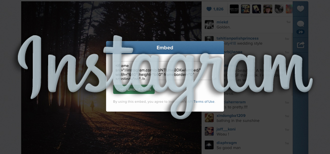Breaking: Instagram Announces Web Embedding